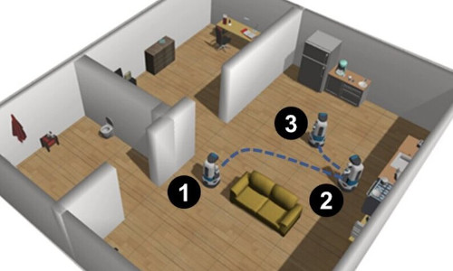 A robot in a human living space.